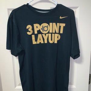 """Nike KD """"Three Point Layup"""" T-Shirt Size Large"""